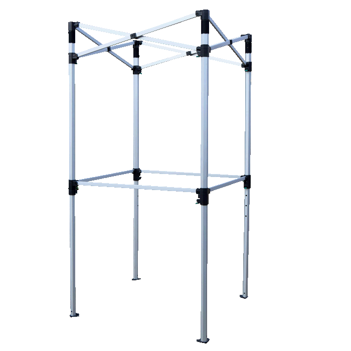 Gazebo Aluminium Frame - Frame With Shelf