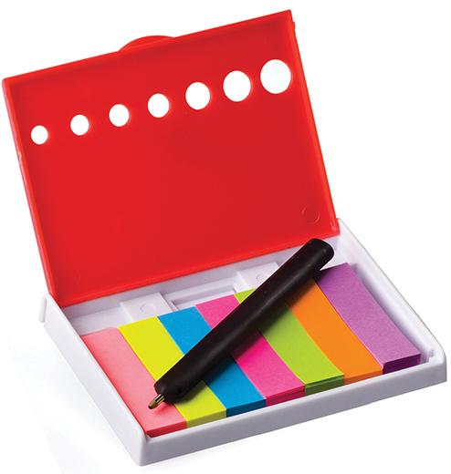 Sticky Note Holder With Mini Pen