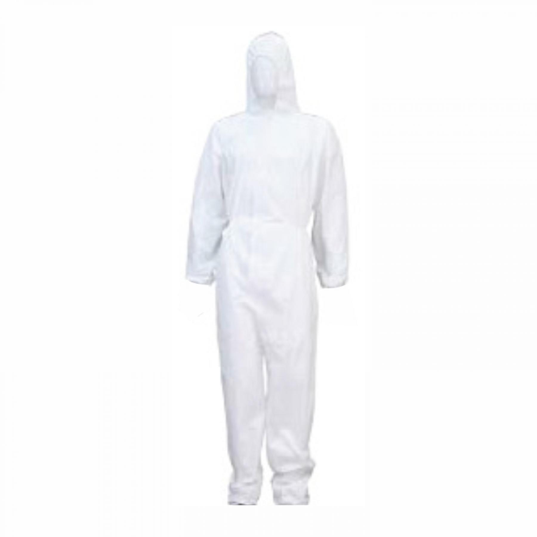 Promax White Disposable Overalls, Large