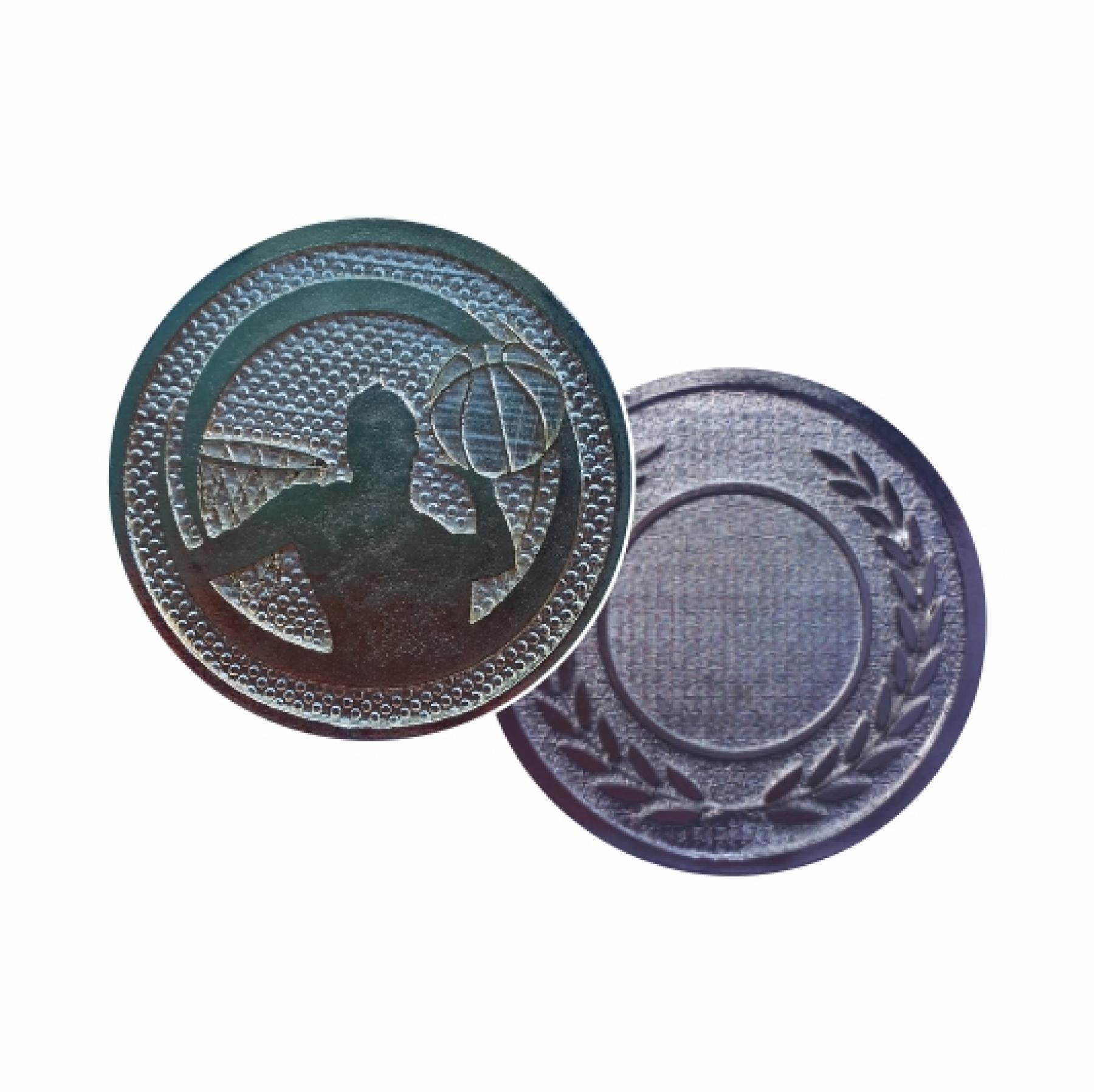 Xco Plated Medals Basketball Silver