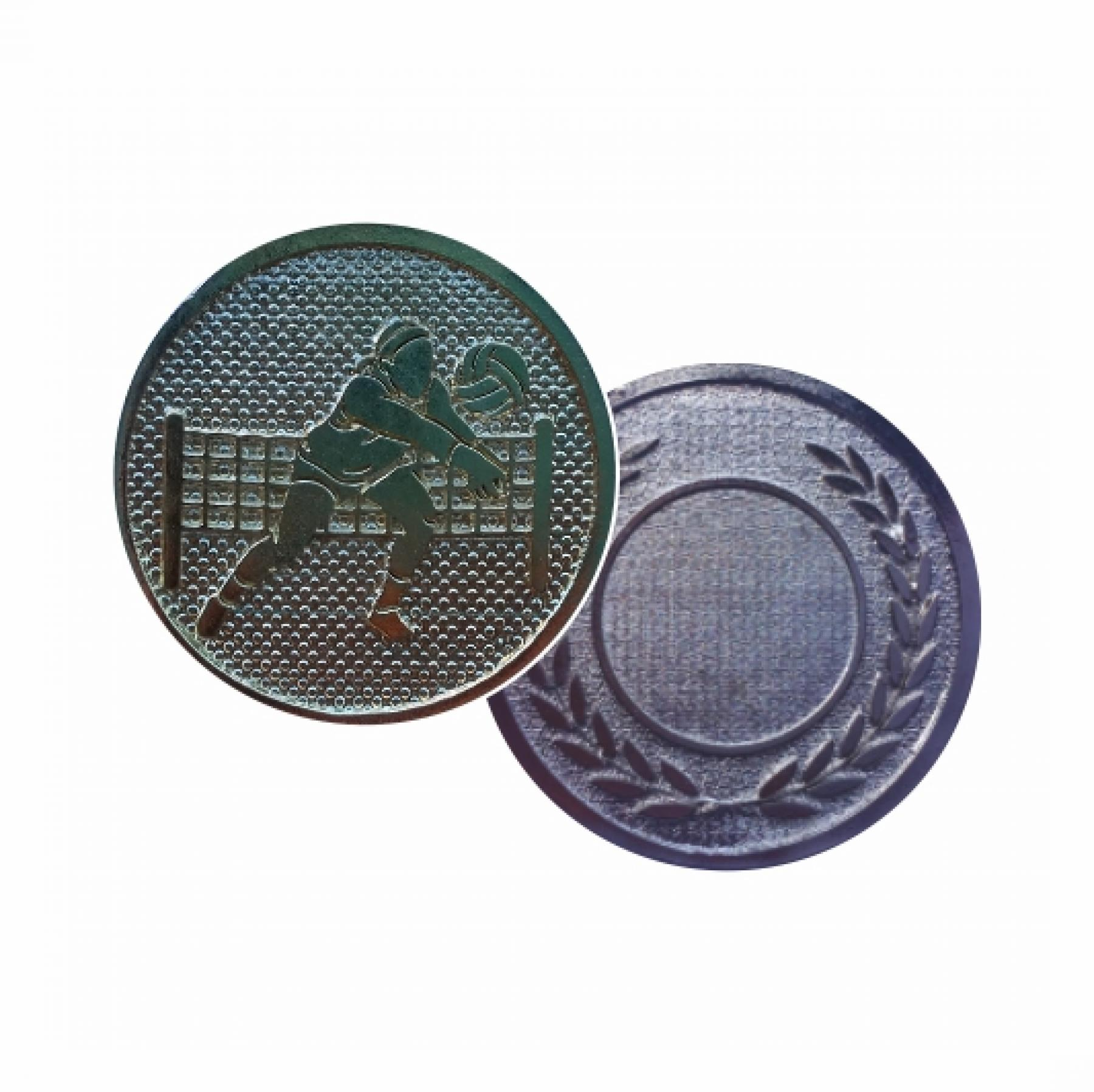 Xco Plated Medal Volleyball Silver