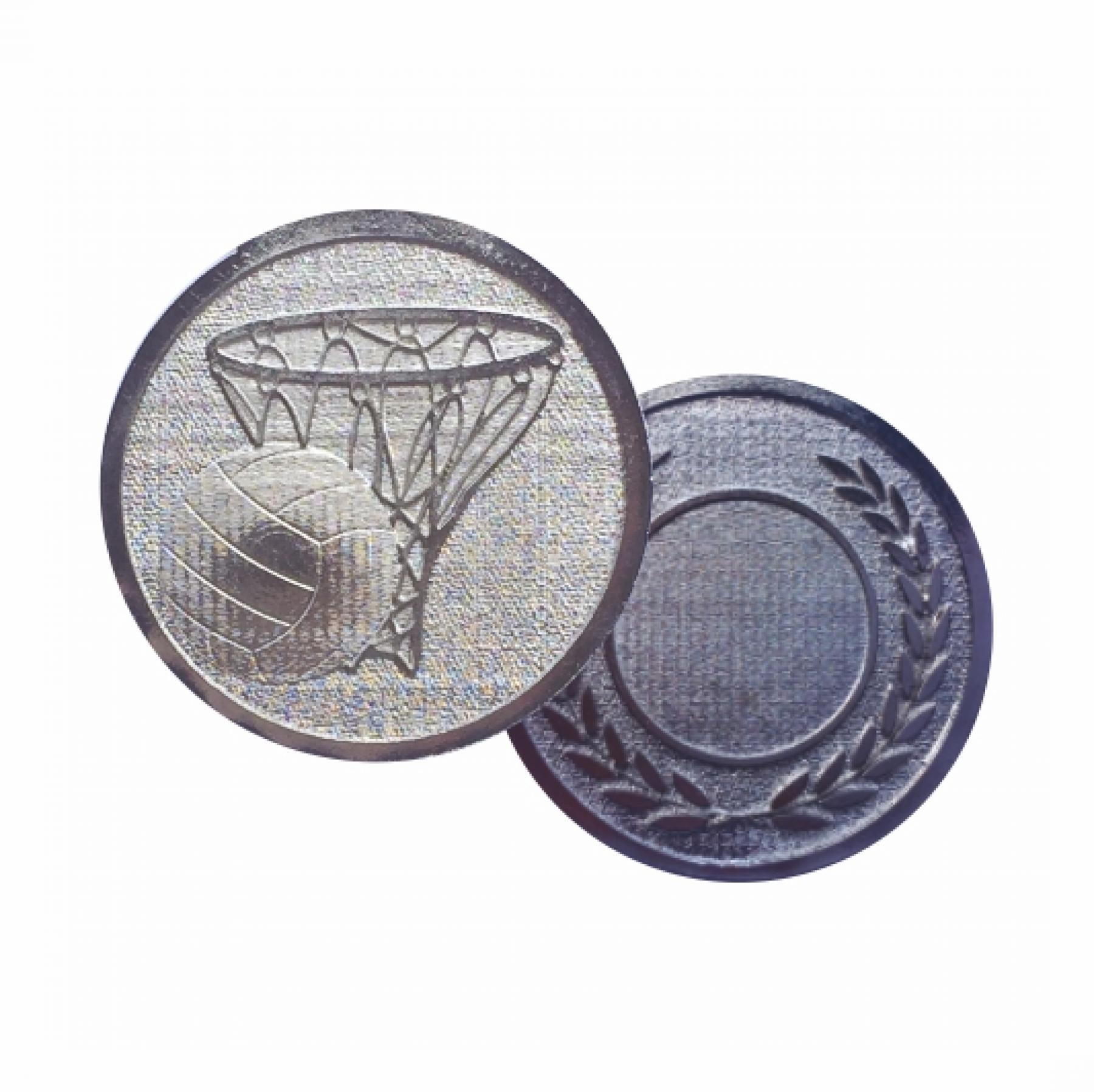 Xco Plated Medals Netball Silver