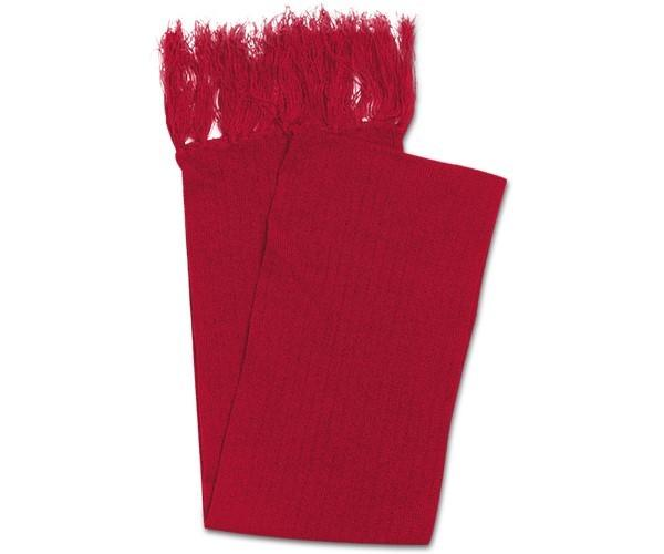 Acrylic Scarf With Single Tassles - Red