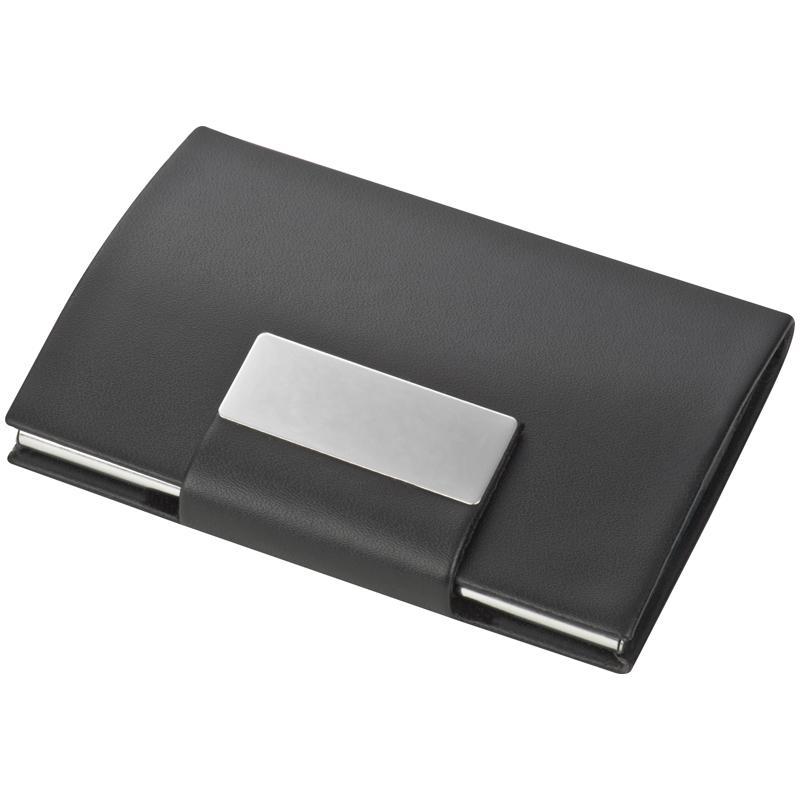 Executive Pu/metal Card Holder