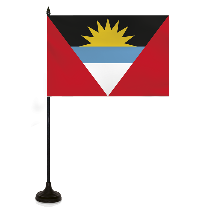 Desk Flag - Antigua - Barbuda Flag