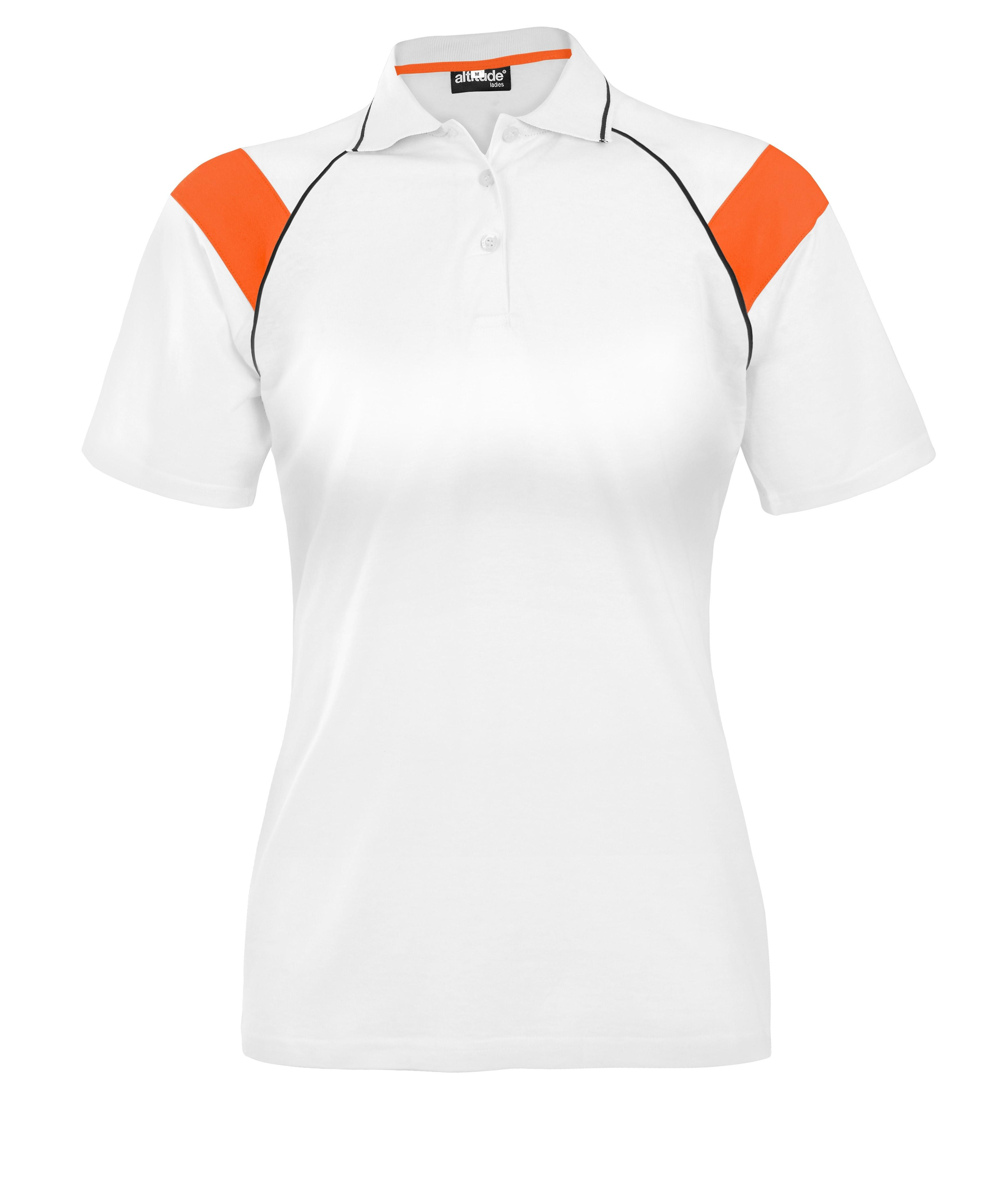 Ladies Score Golf Shirt - Orange Only