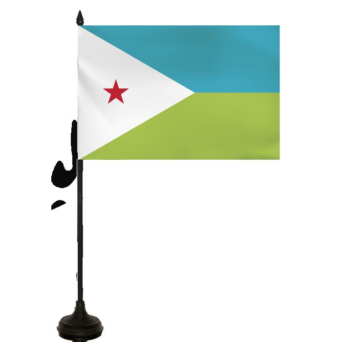 Desk Flag - Djibouti Flag