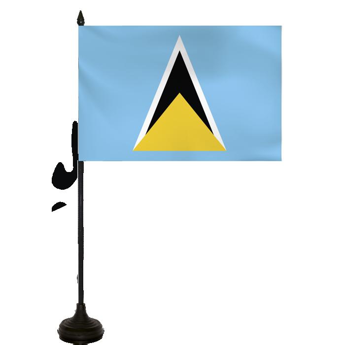 Desk Flag - St.lucia Flag