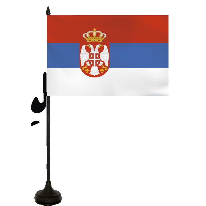 Desk Flag - Serbia + Montenegro Flag