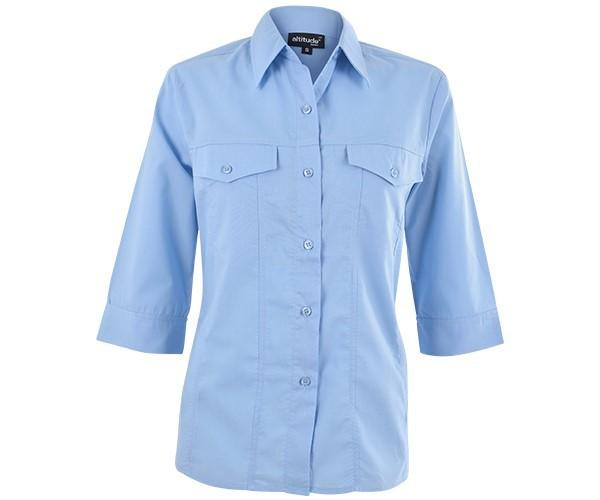 Sally Casual Blouse - Sky Blue Only