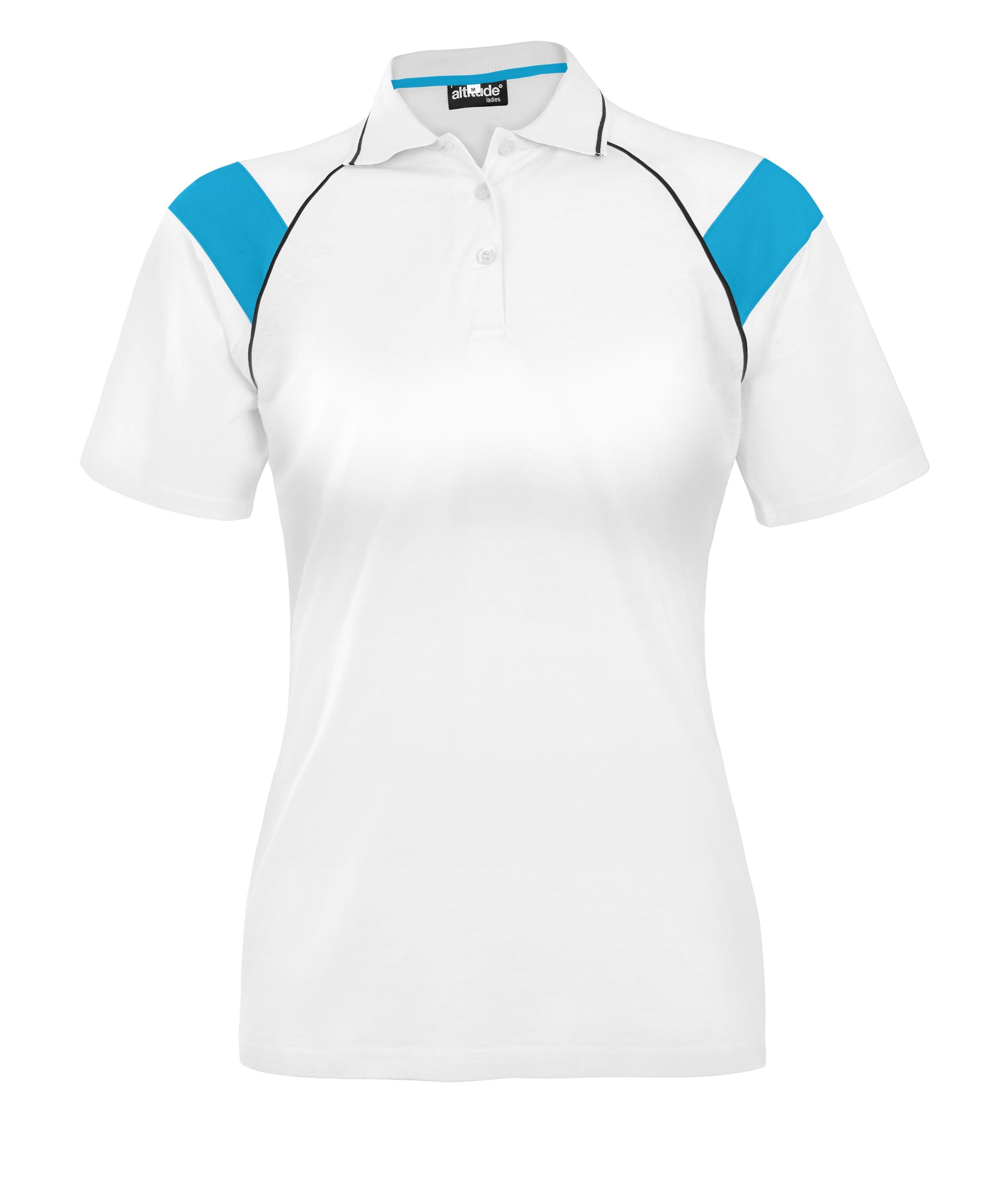 Ladies Score Golf Shirt - Cyan Only