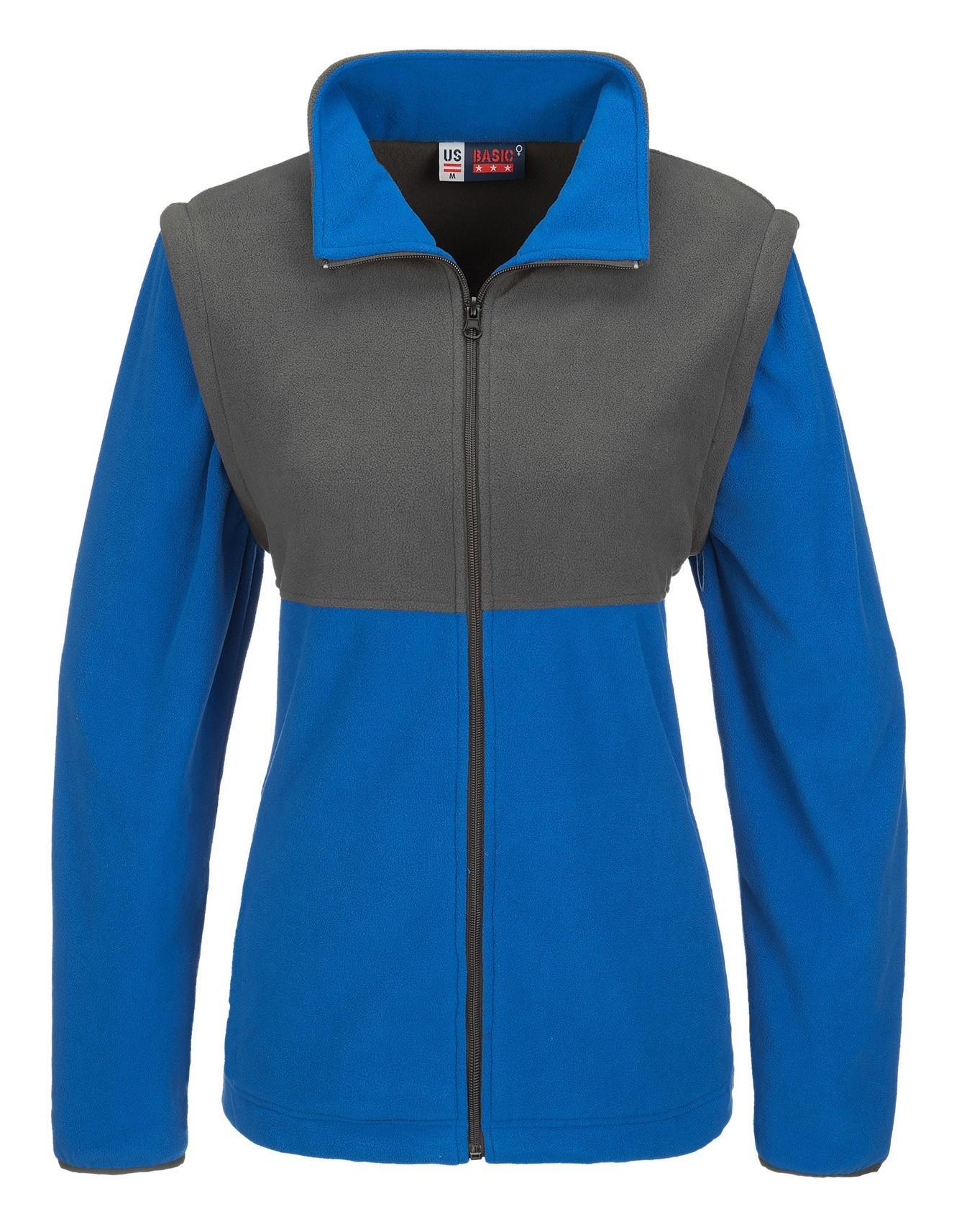 Ladies Benneton Zip-off Micro Fleece Jacket - Blue Only