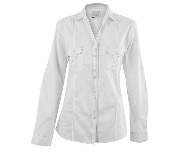 Ladies Long Sleeve Inyala Shirt - White Only