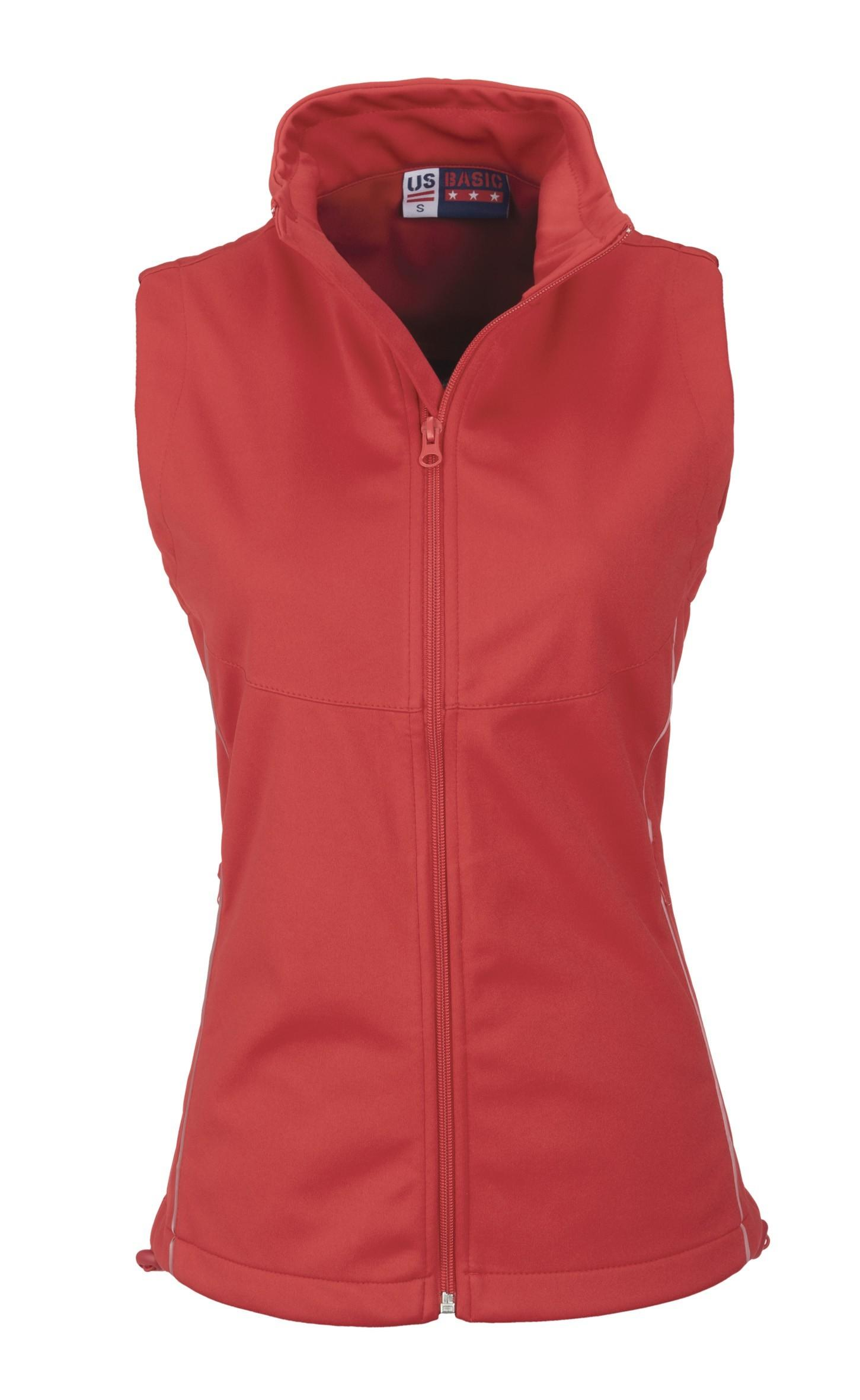 Ladies Cromwell Softshell Bodywarmer - Red Only