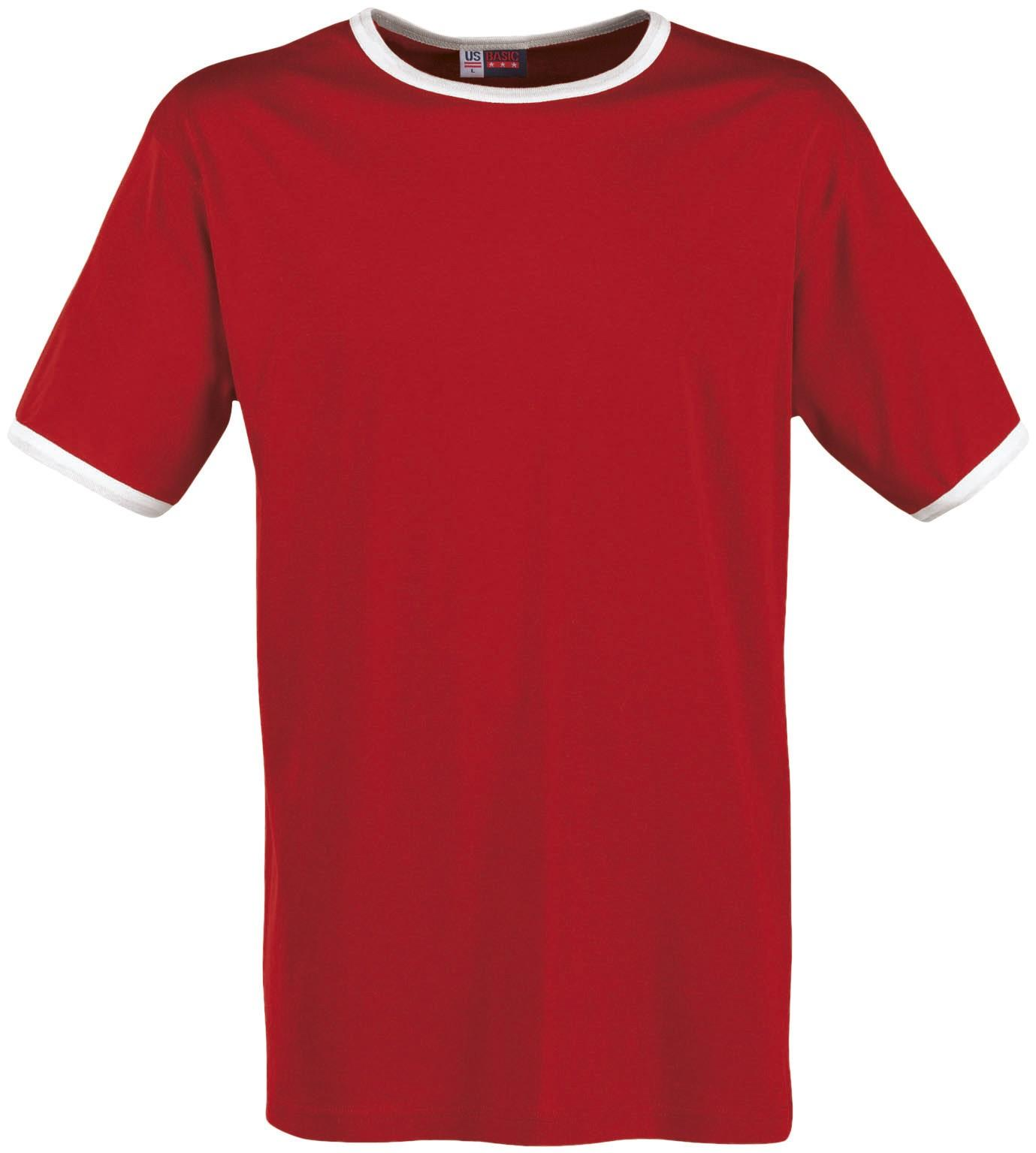 Mens Adelaide Contrast T-shirt - Red Only