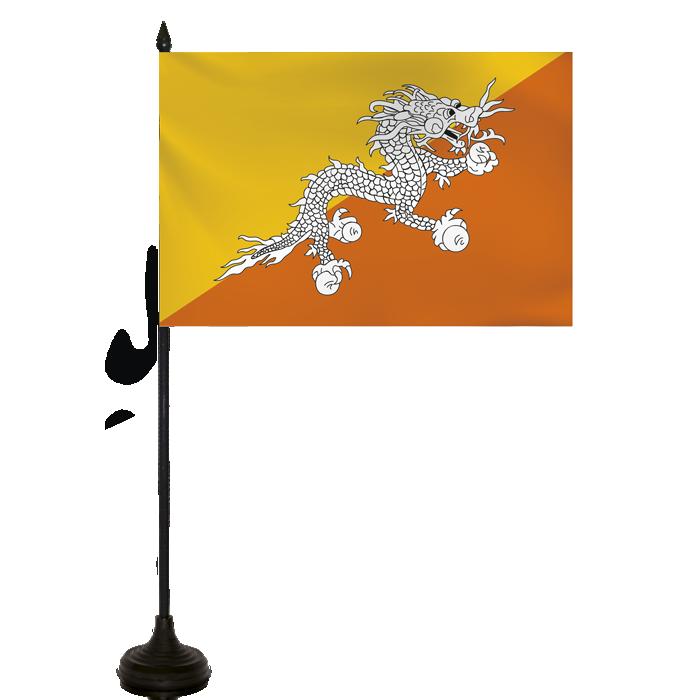 Desk Flag - Bhutan Flag