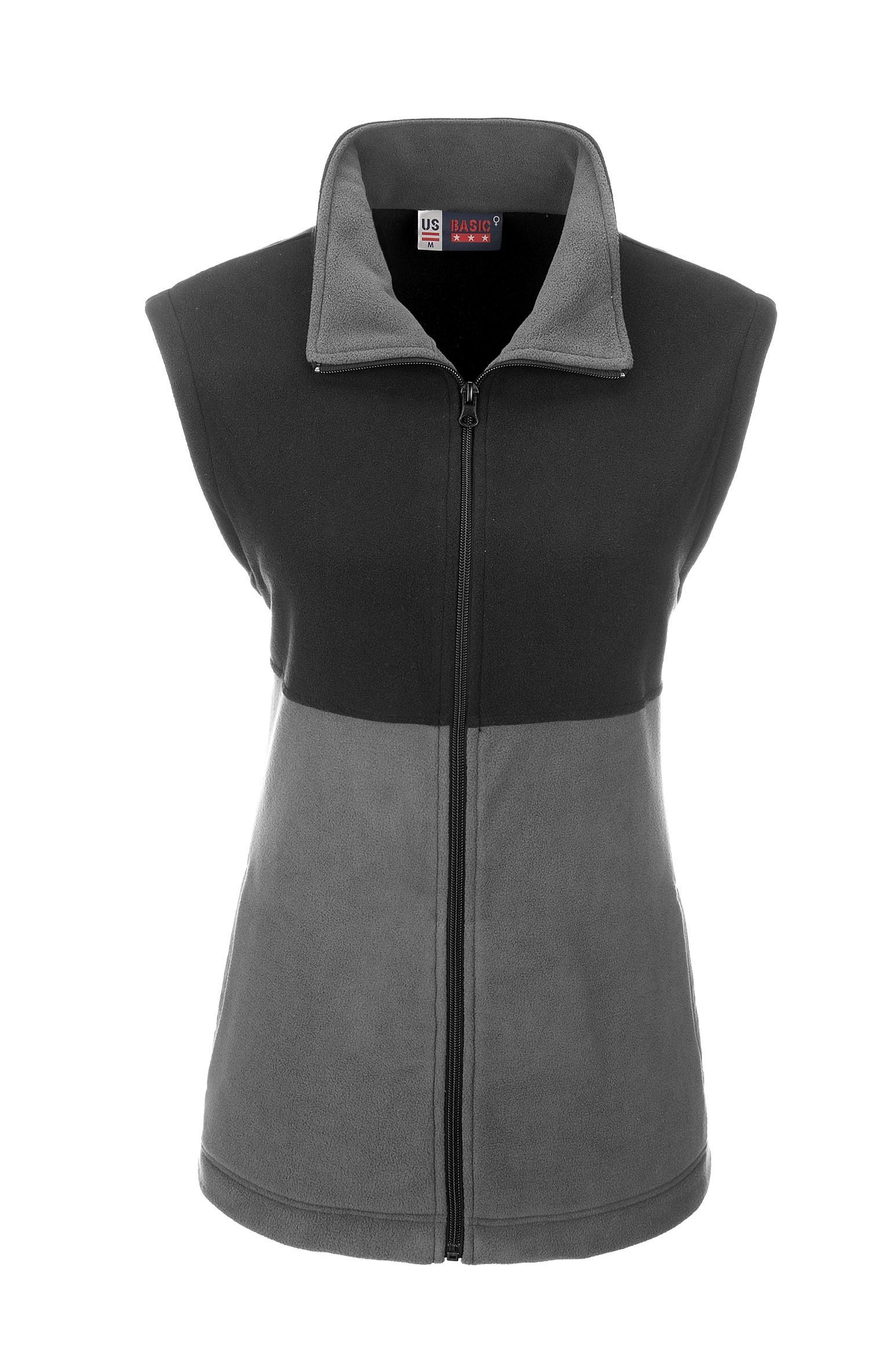Ladies Benneton Zip-off Micro Fleece Jacket - Grey Only