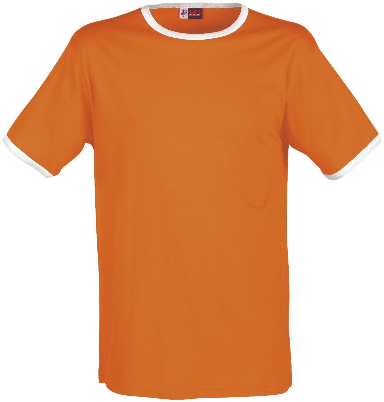 Mens Adelaide Contrast T-shirt - Orange Only