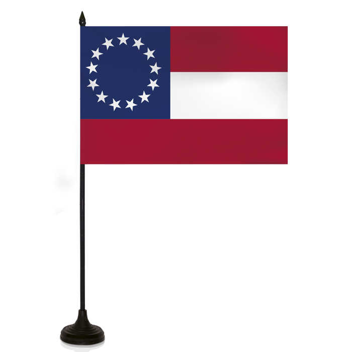 Desk Flag - American Confed. Flag