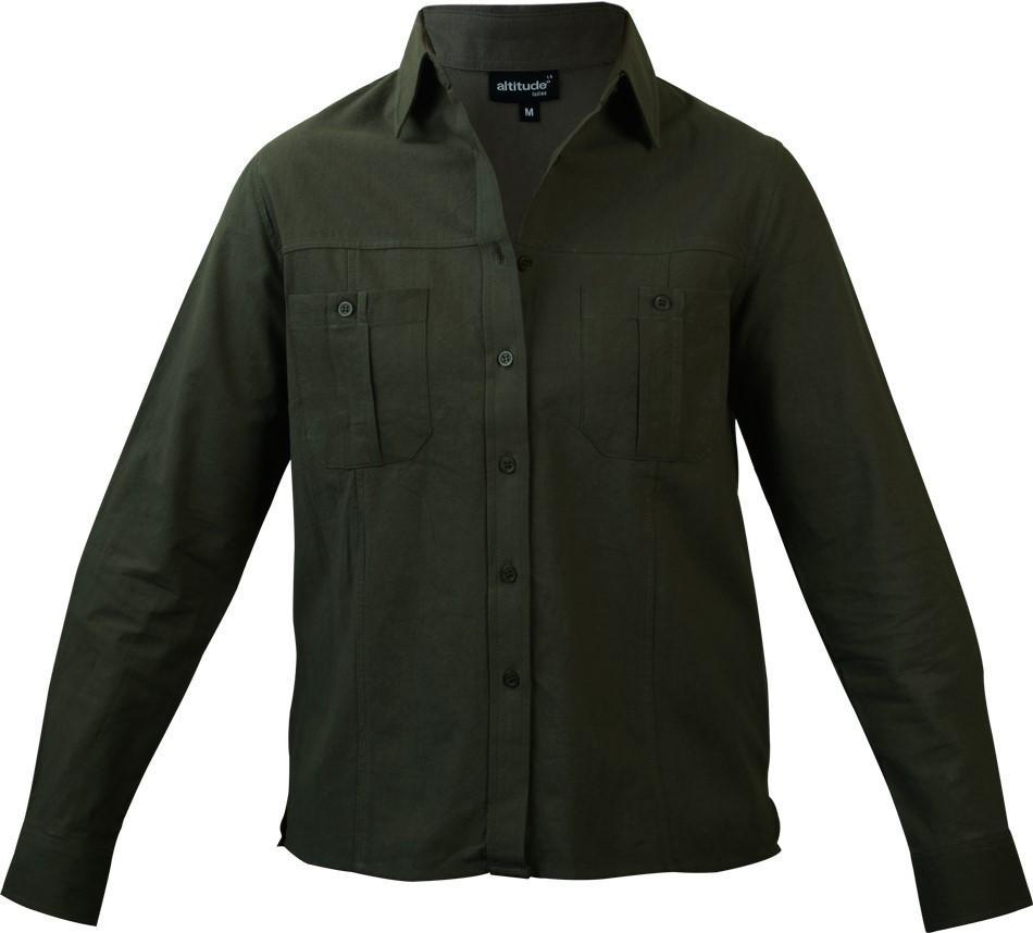 Tracker Long Sleeve Blouse - Khaki Only