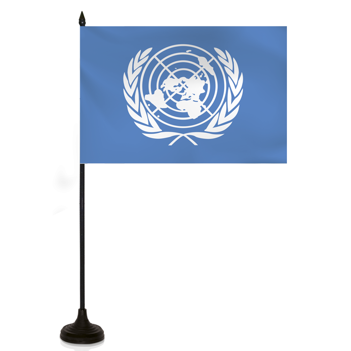 Desk Flag - United Nations Flag