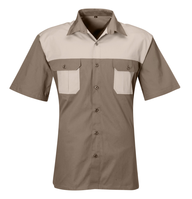 Mens Short Sleeve Saratoga Shirt - Stone
