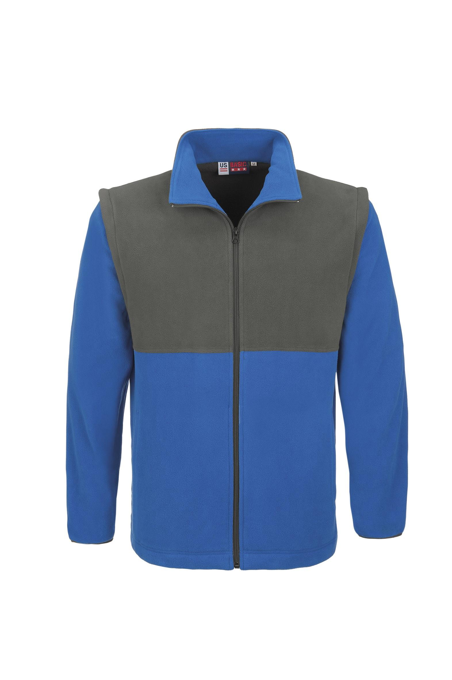 Mens Benneton Zip-off Micro Fleece Jacket - Blue Only