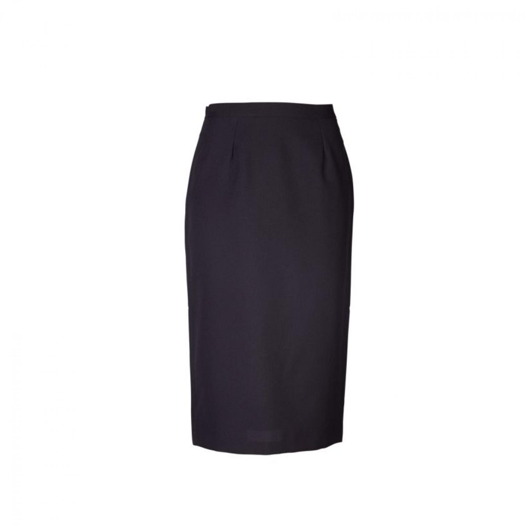 Claire Pencil Long Skirt - Black