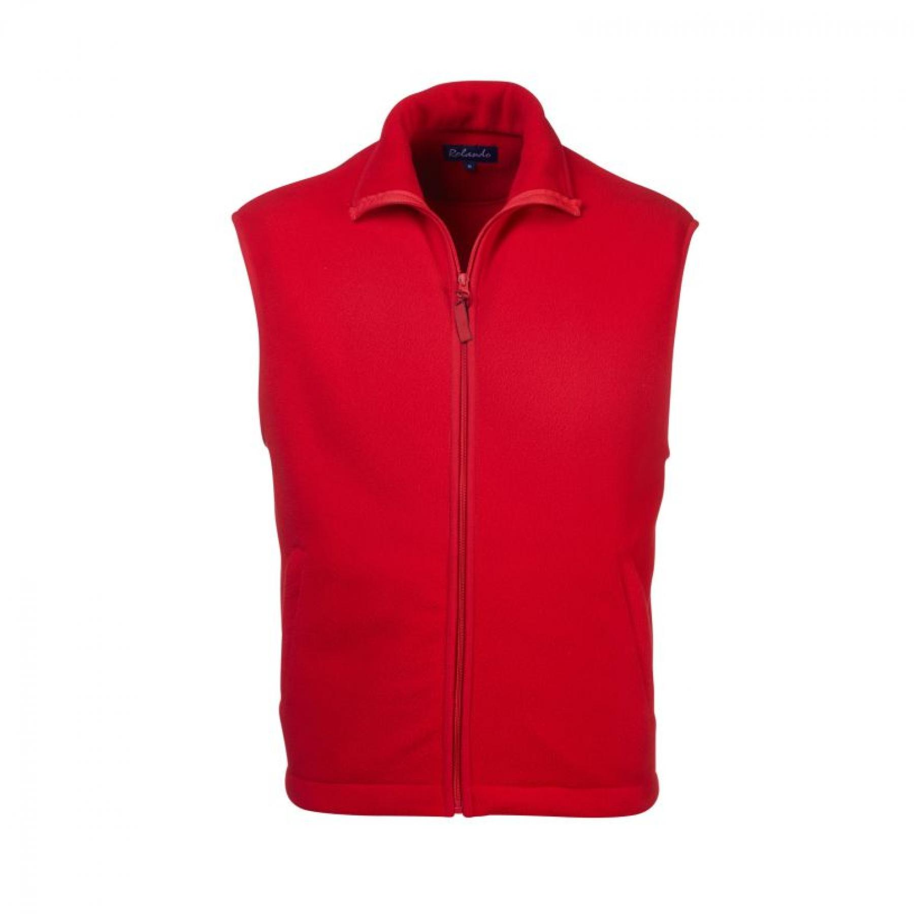 Robert S/less Polar Fleece - Red