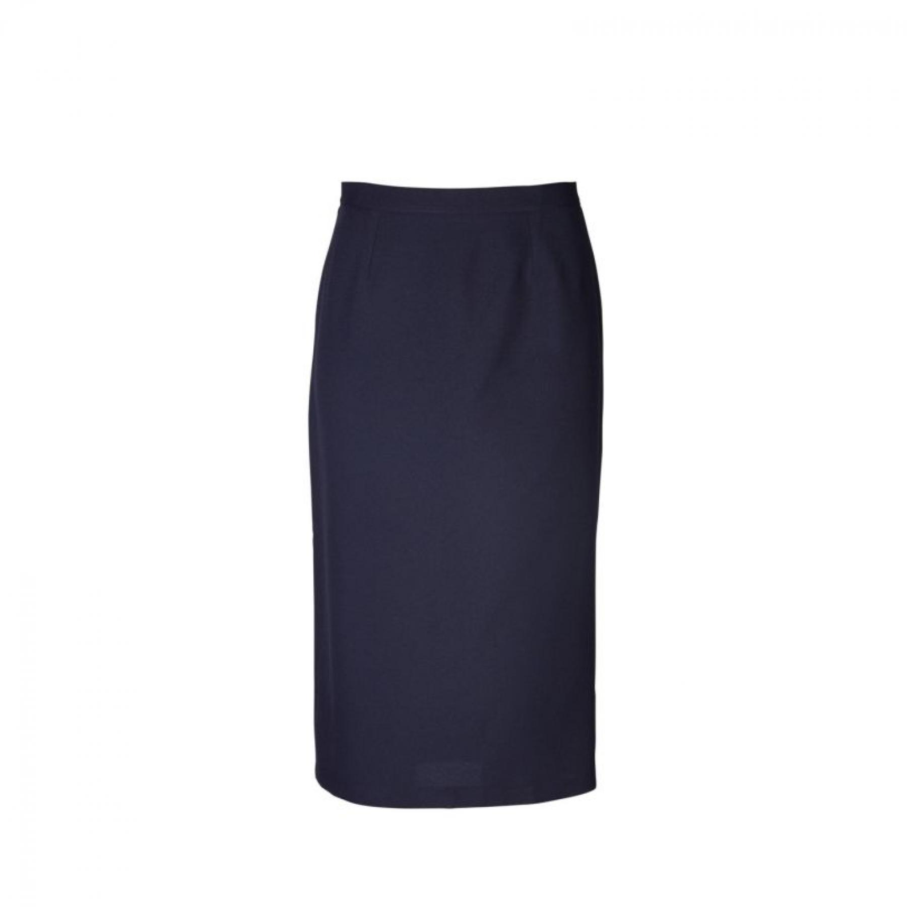 Claire Pencil Long Skirt - Navy