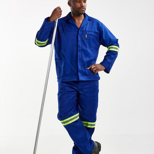 Hybrid Royal Blue Conti Suit With Reflective Tape, Sizes 32 To 44