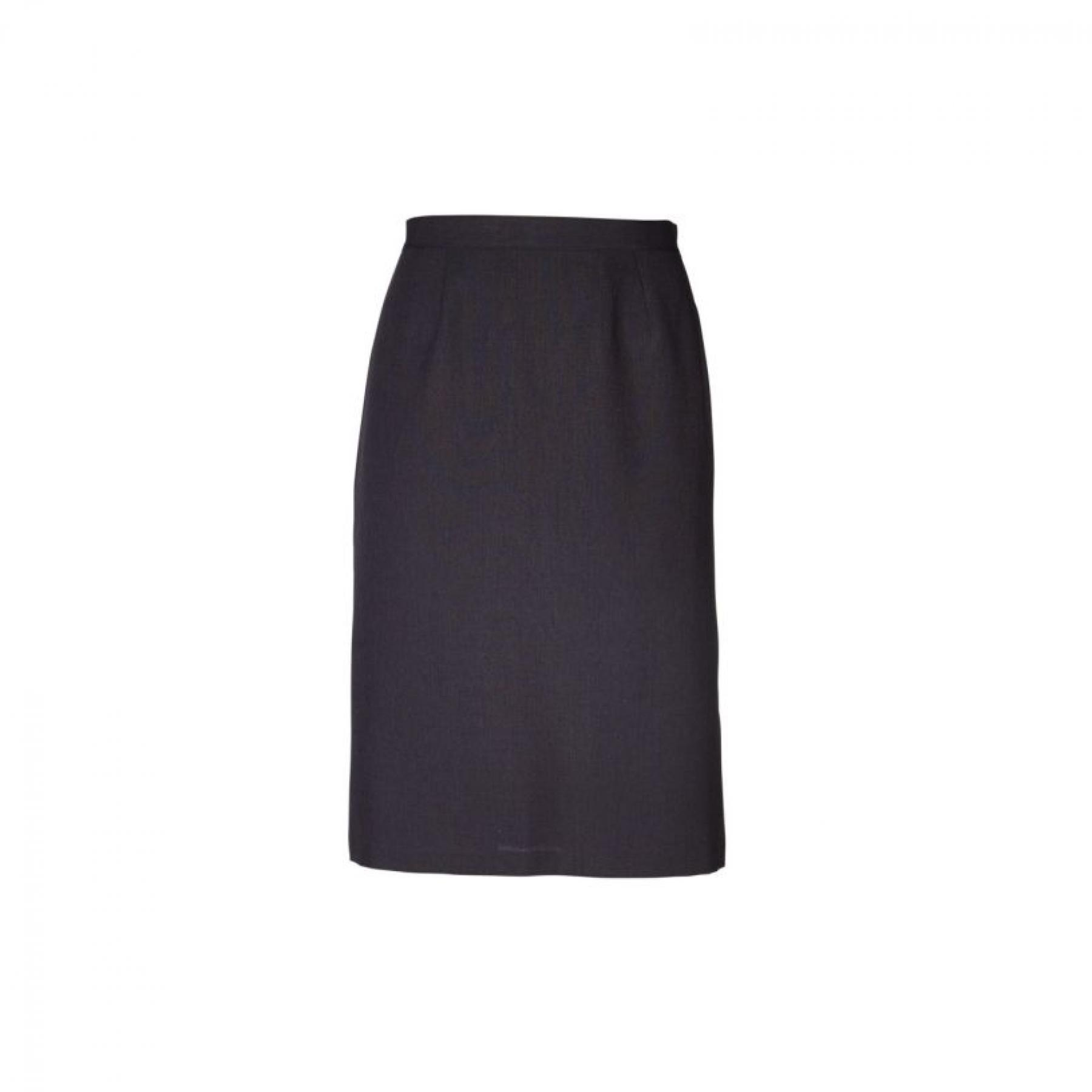 Emma Pencil Short Skirt - Cationic Charcoal