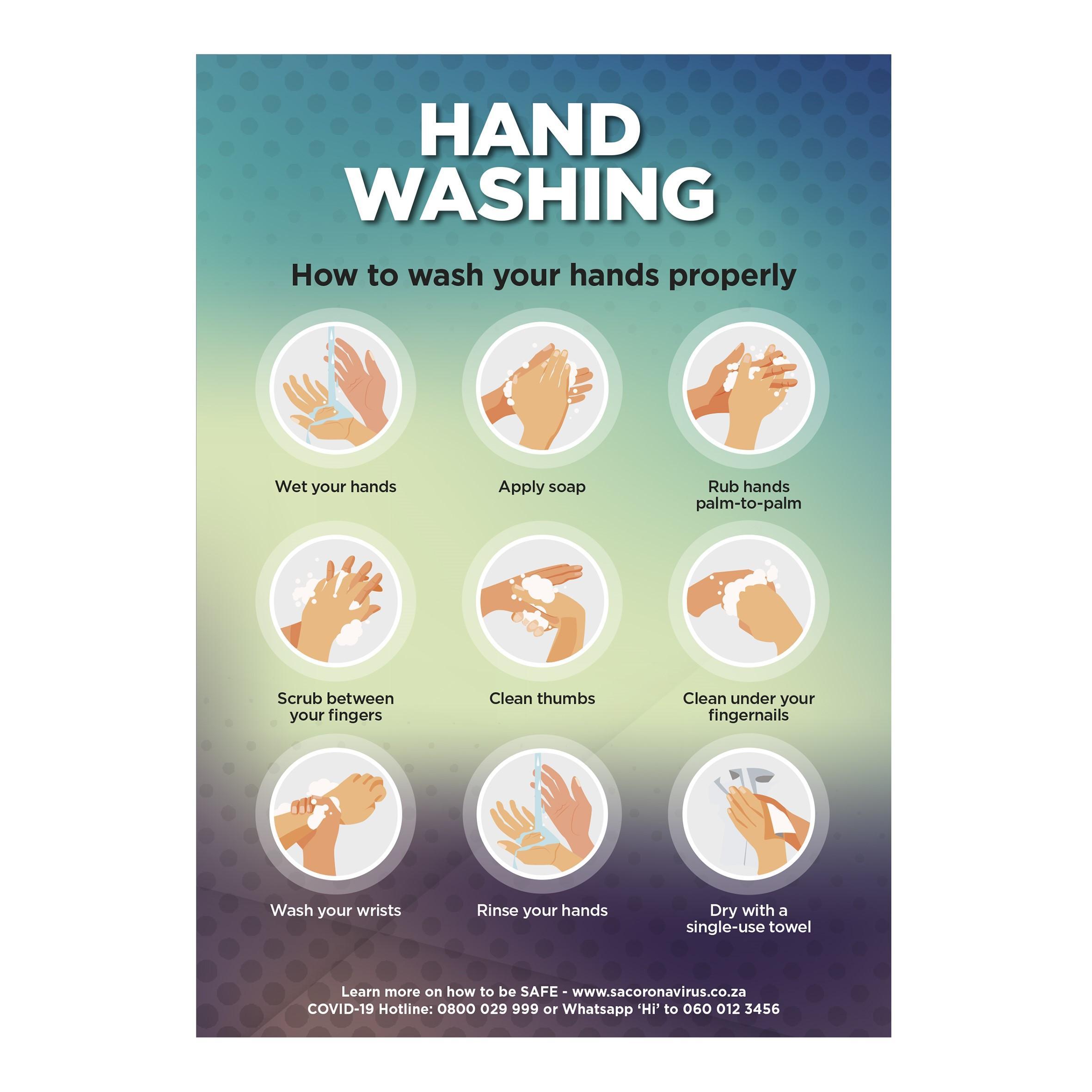 Saturn A0 Hand Wash Poster - Per Unit