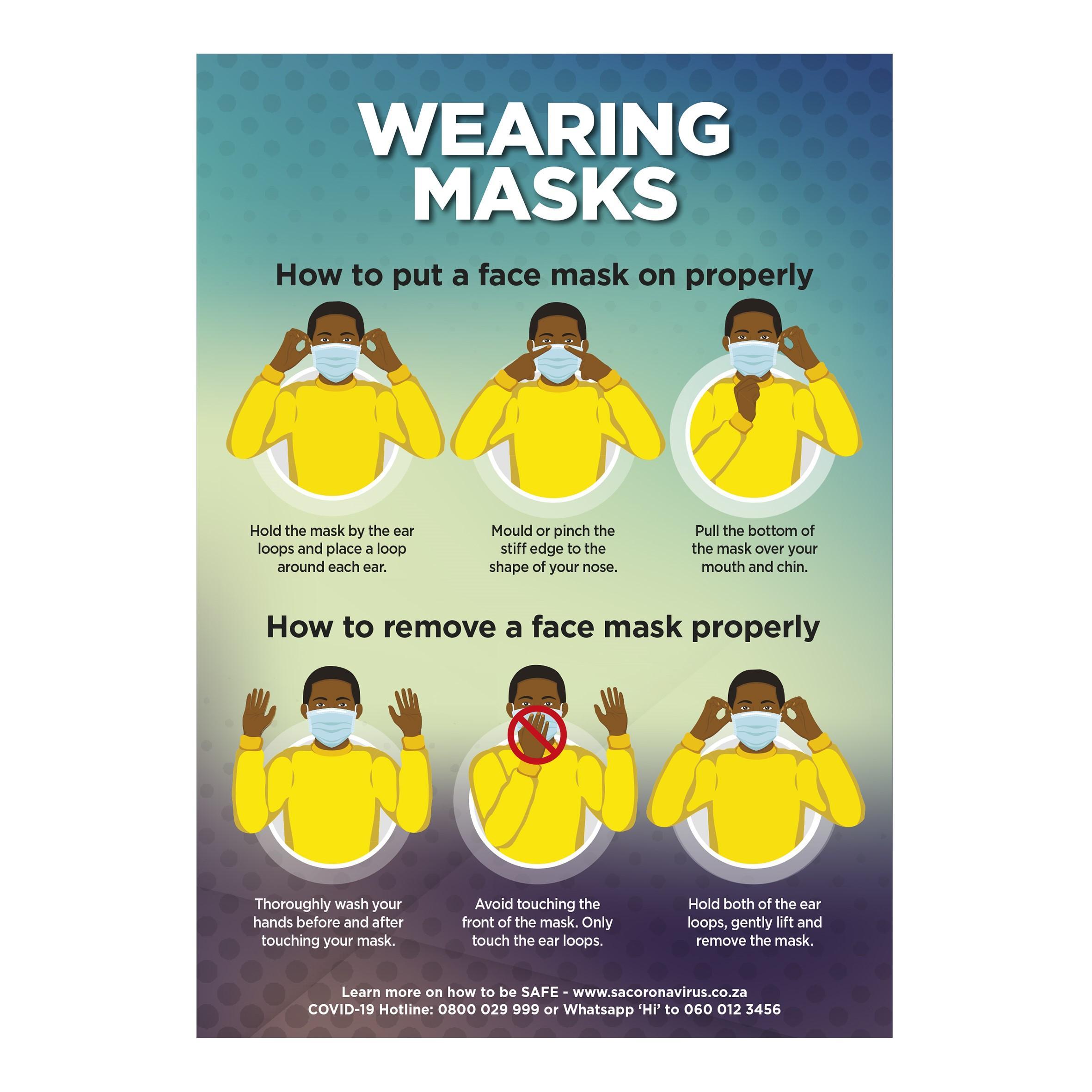 Saturn A0 Face Masks Poster - Per Unit