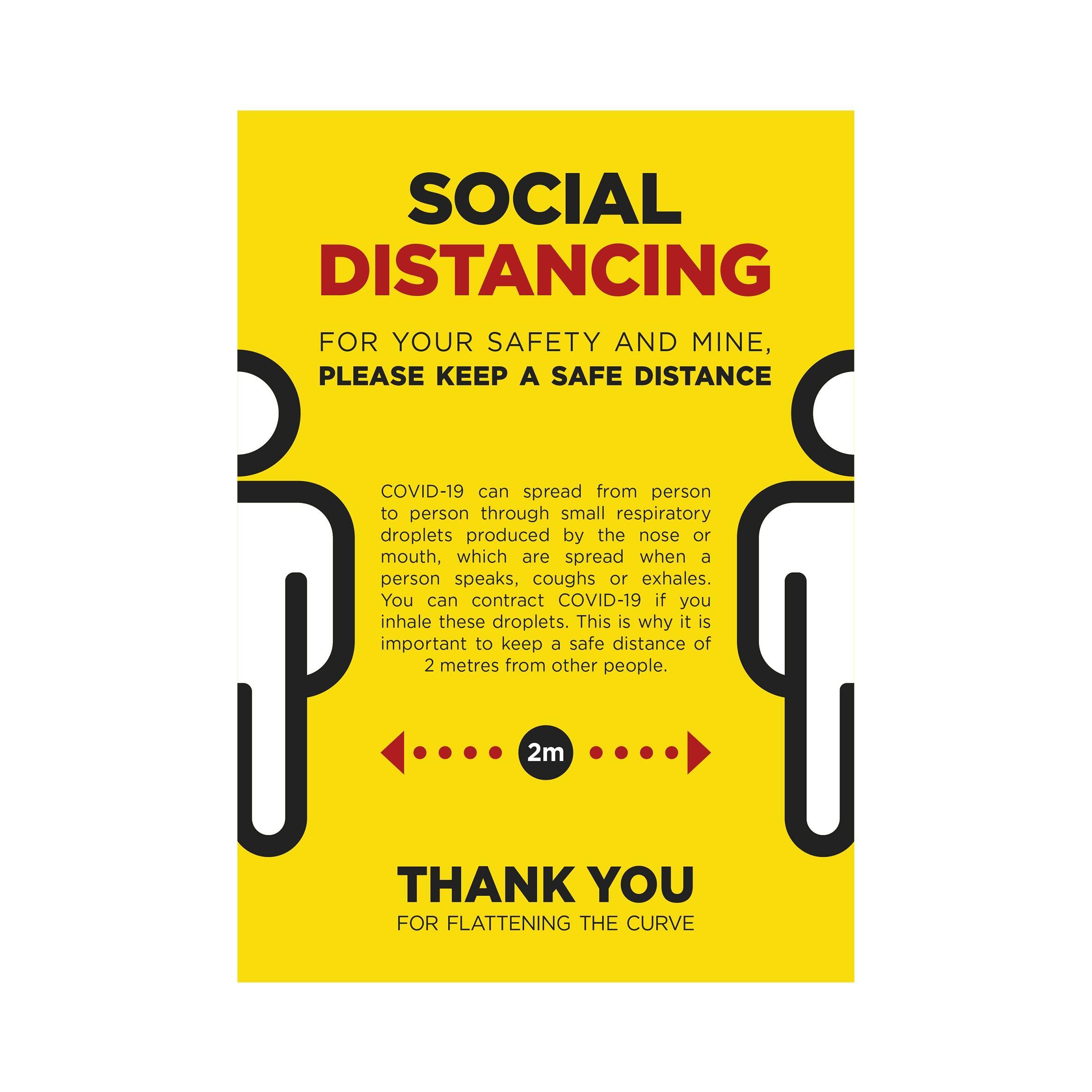Jupiter A0 Social Distance Poster - Per Unit