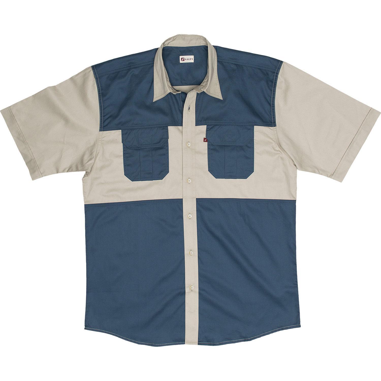Salty Khaki & Olive Two Tone Shirts S / S