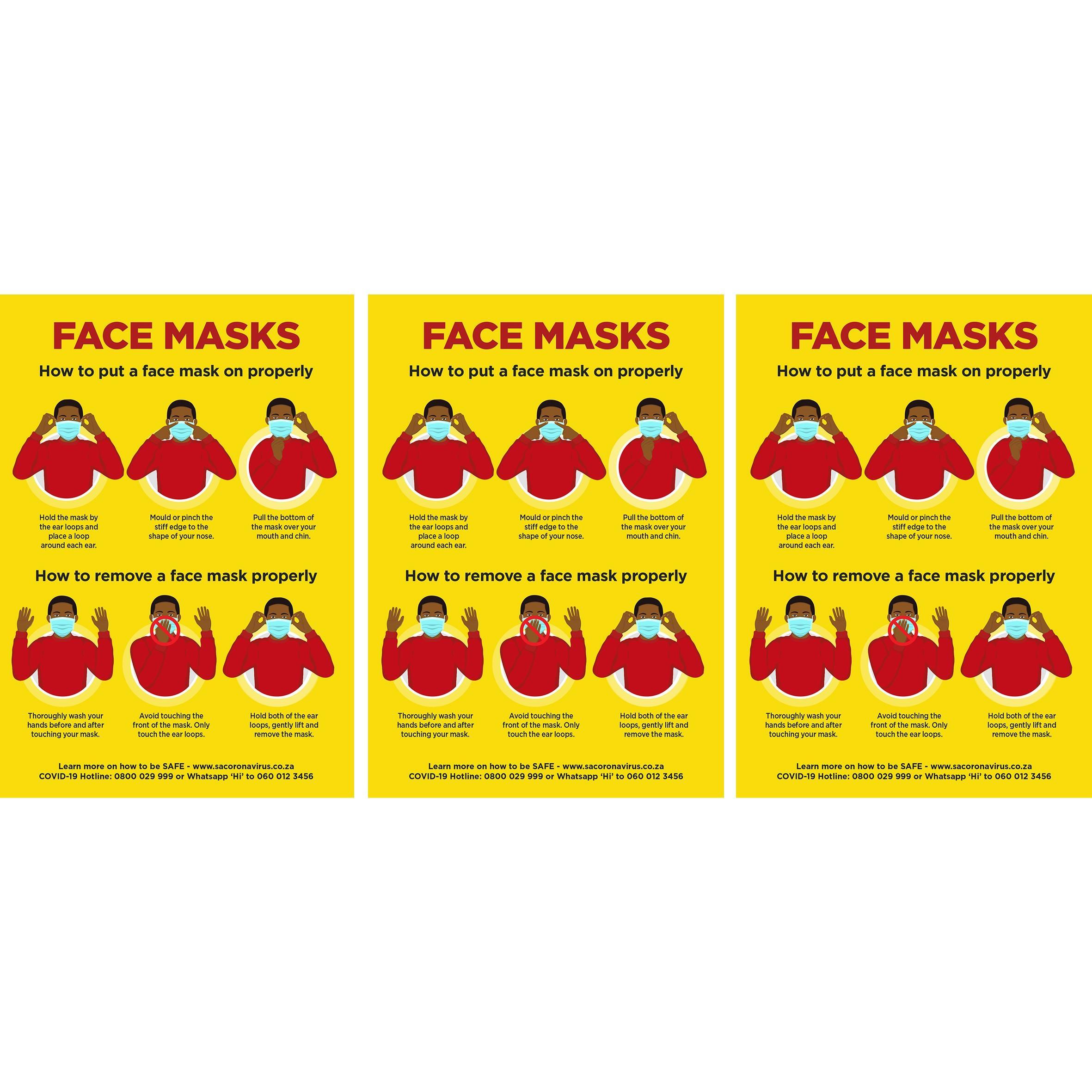 Jupiter  A2 Face Masks Poster (set Of 3)