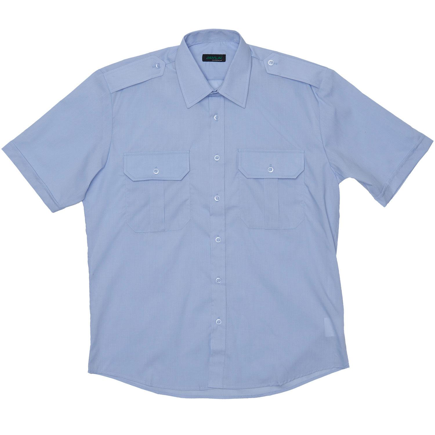 Pale Blue Pilot Shirt S / S [improved Styling]