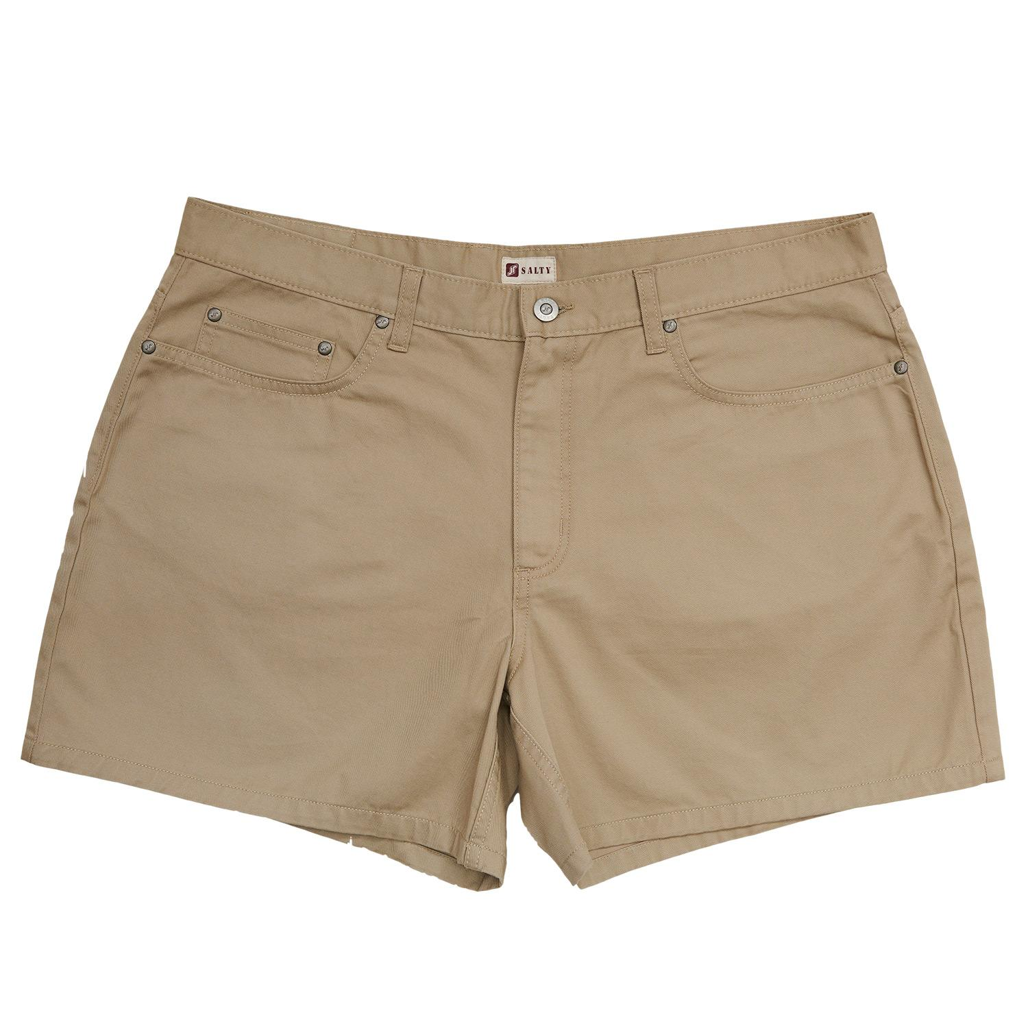 Salty Beige Heavy Duty 5 Pocket Short