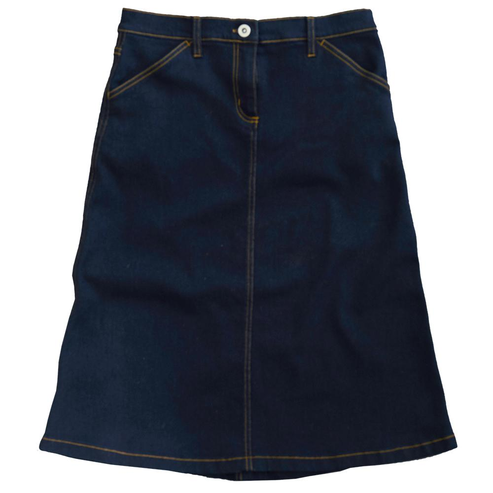 Blue Womens Denim Skirt