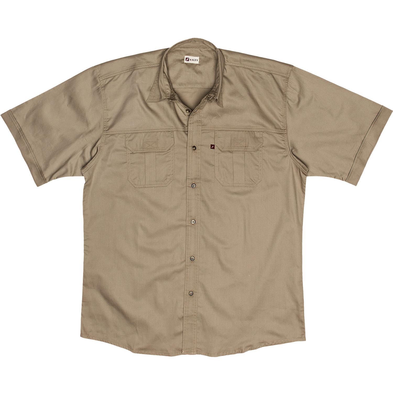 Salty Airforce / Khaki / Stone / Olive / Taupe Plain Shirt S/s