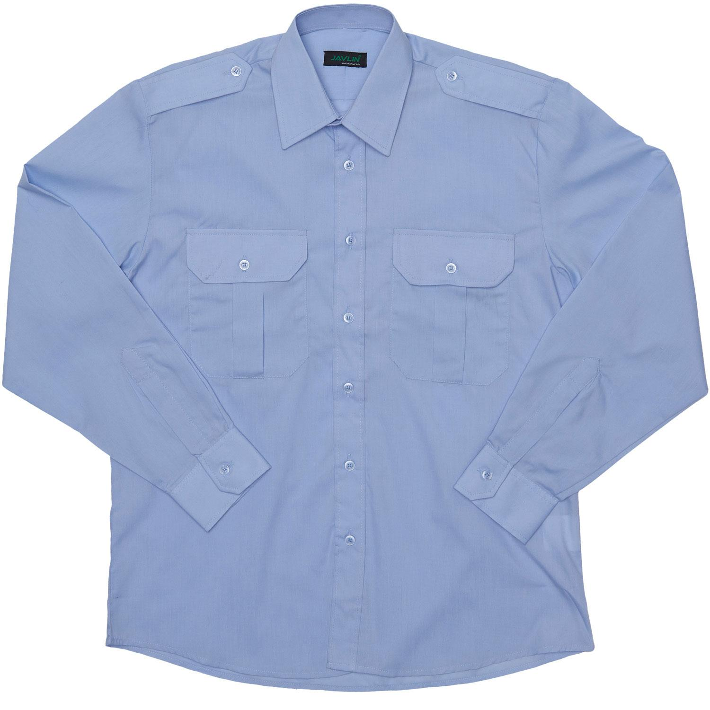 Pale Blue Pilot Shirt L / S [improved Styling]
