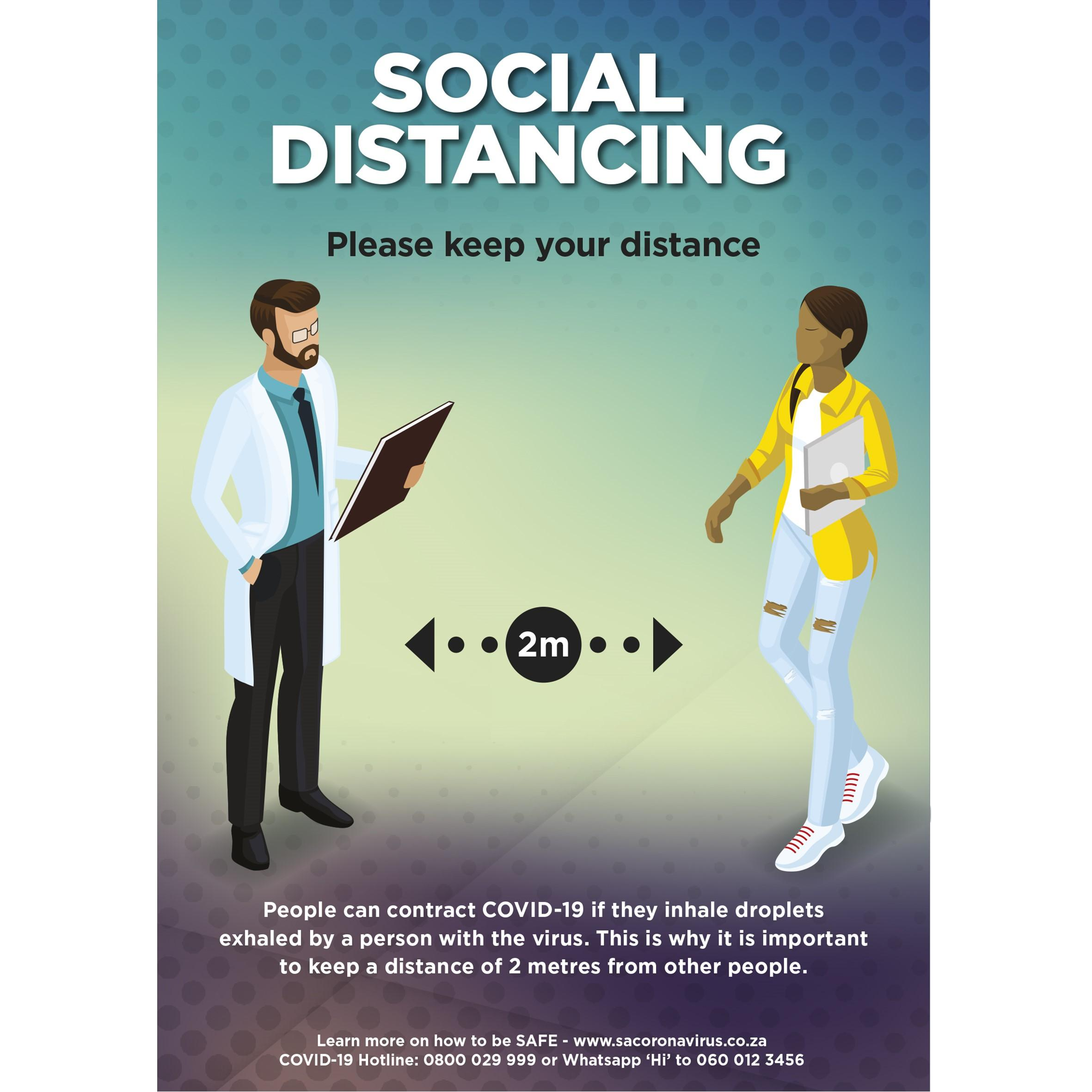 Saturn  A0 Social Distance Poster - Per Unit