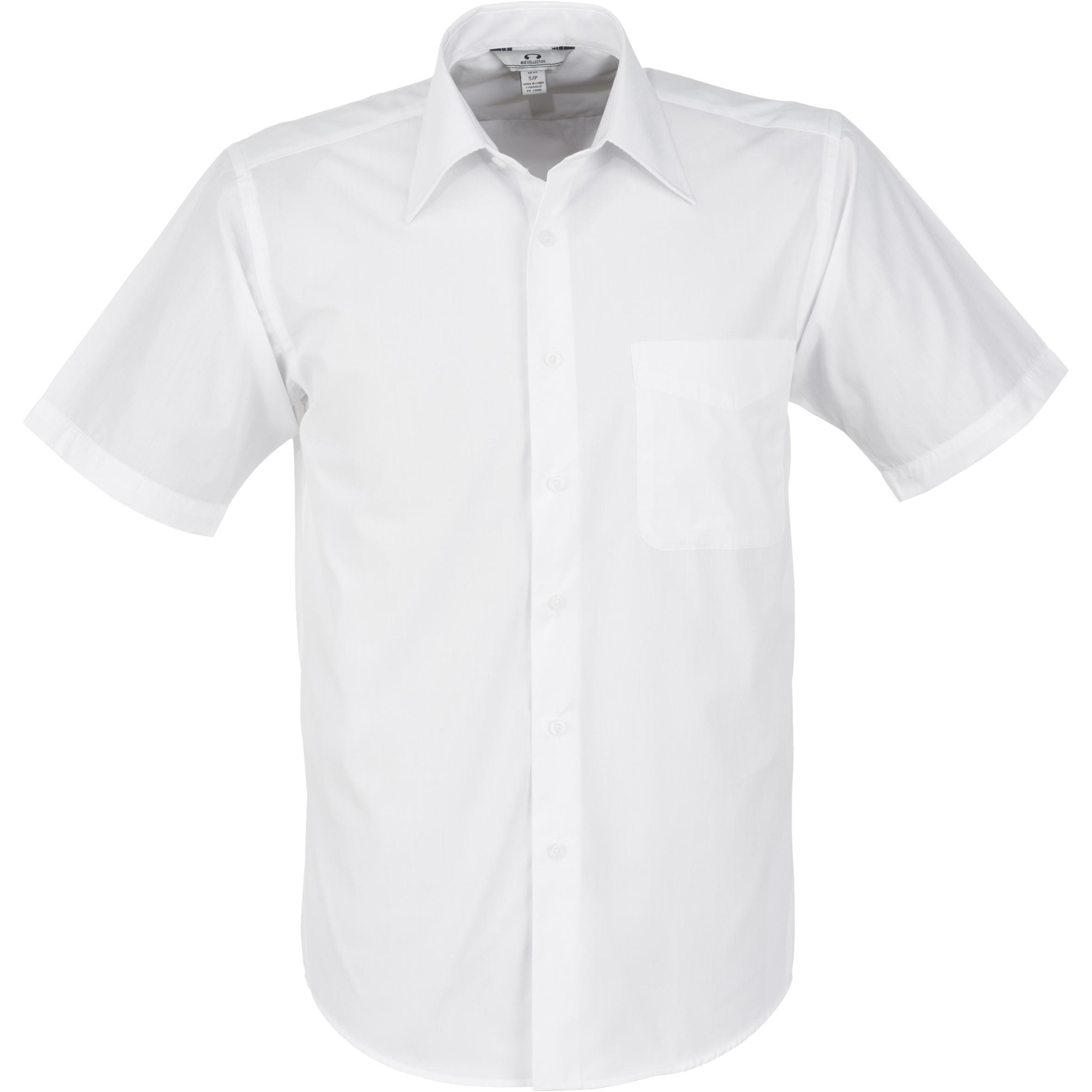Mens Short Sleeve Metro Shirt - White Only