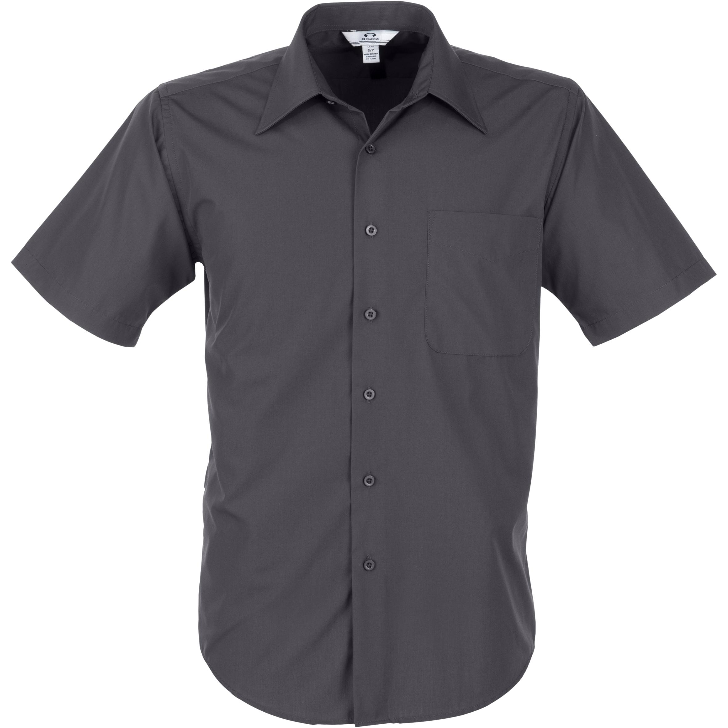 Mens Short Sleeve Metro Shirt - Grey Only