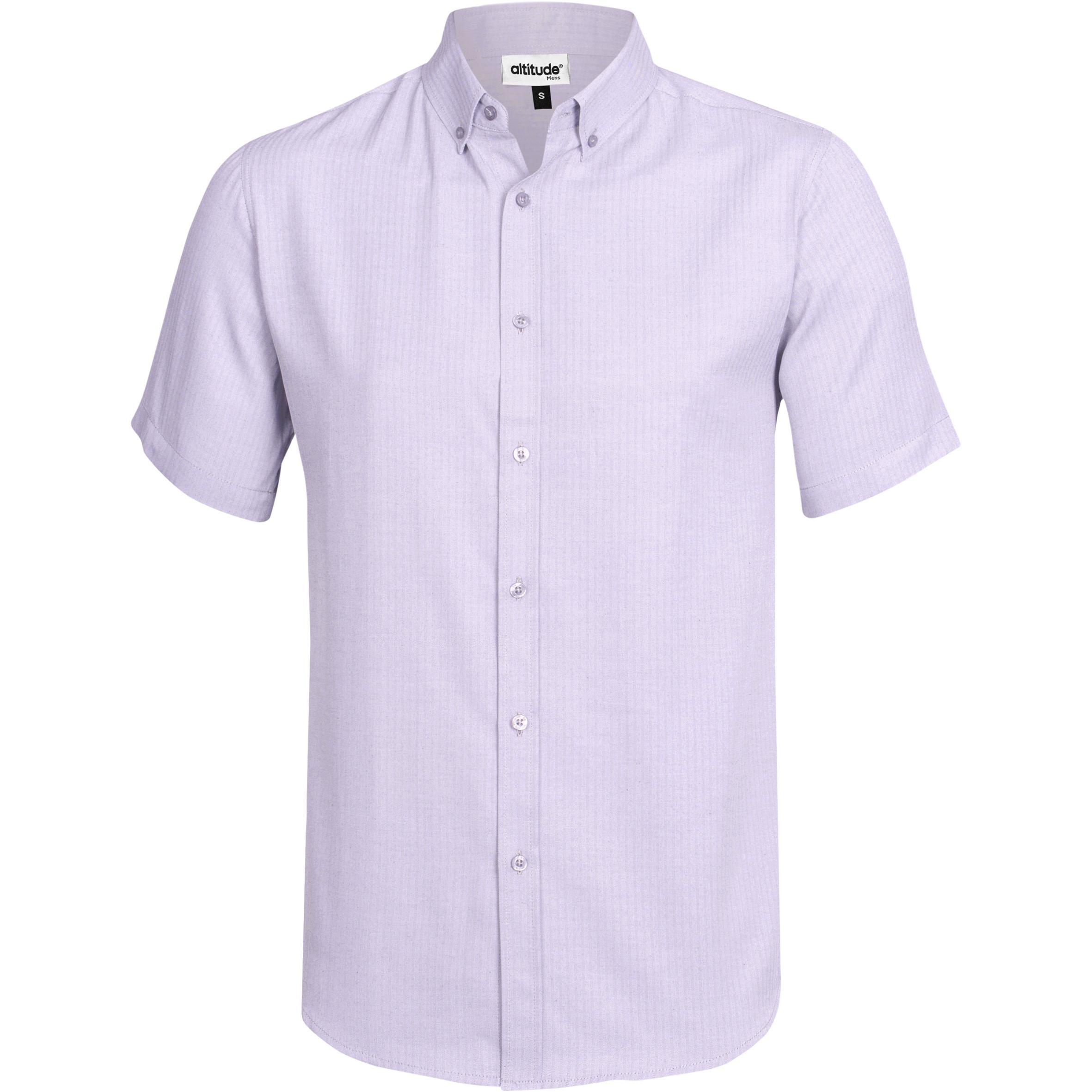 Mens Short Sleeve Nottingham Shirt - Purple Only
