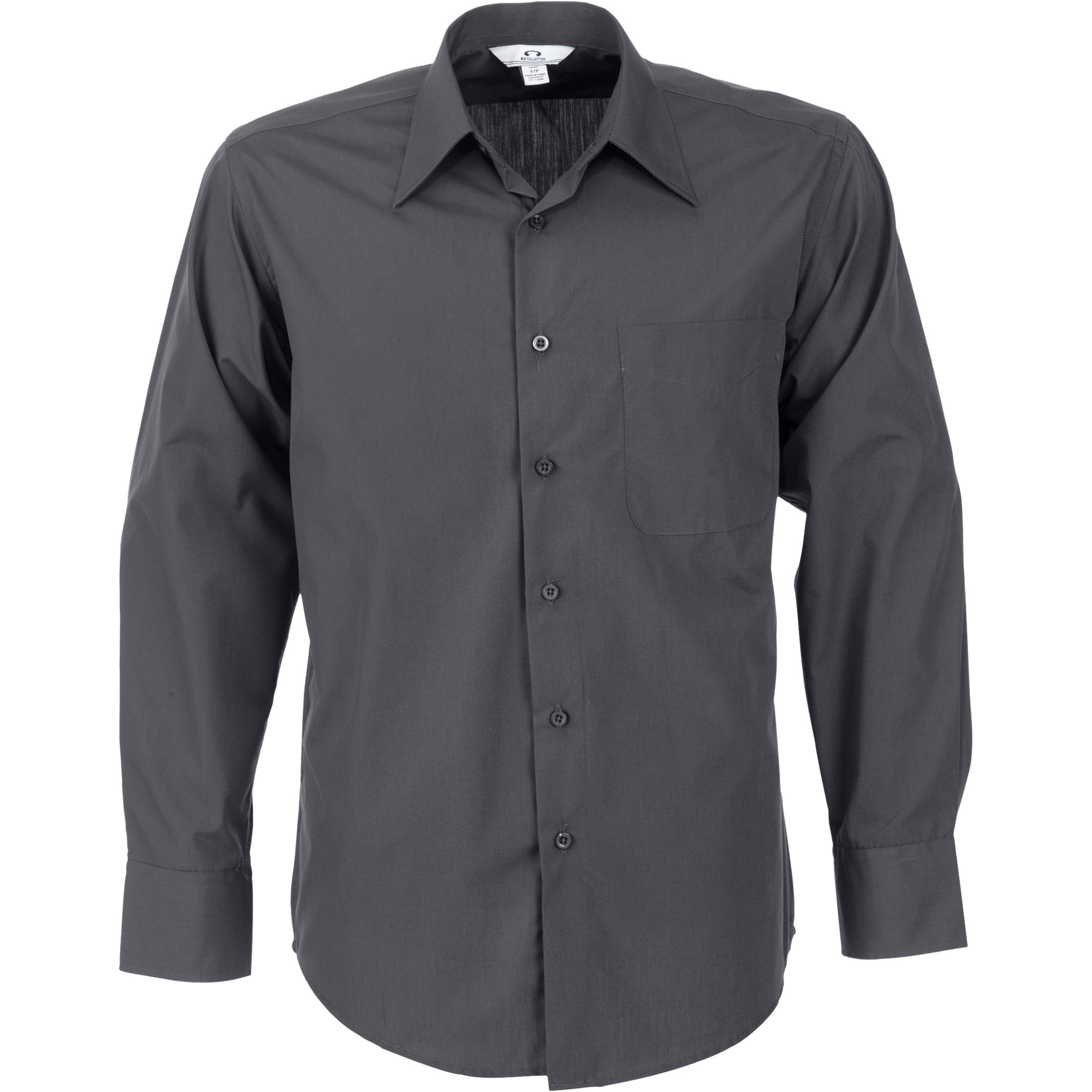 Mens Long Sleeve Metro Shirt - Grey Only