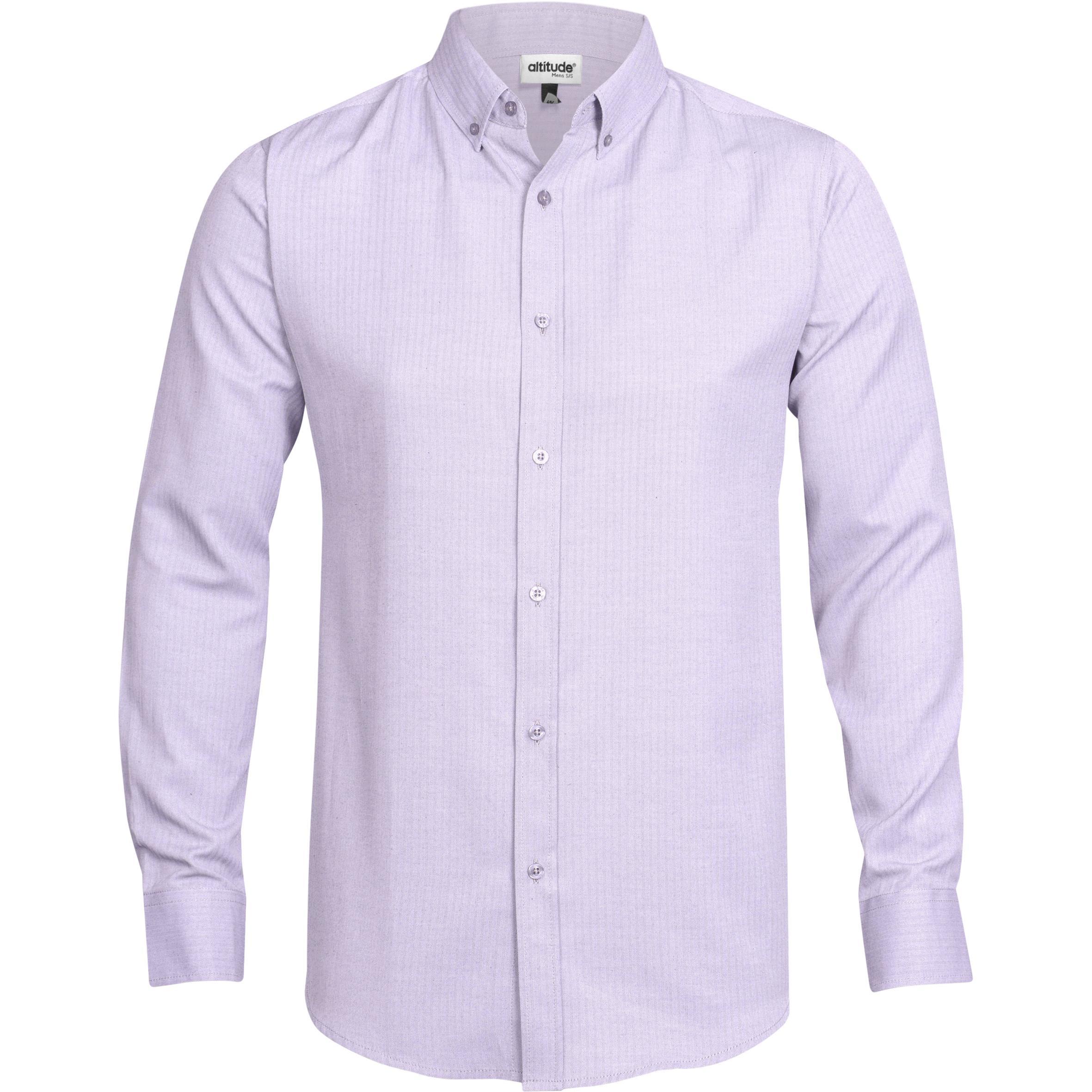 Mens Long Sleeve Nottingham Shirt - Purple Only