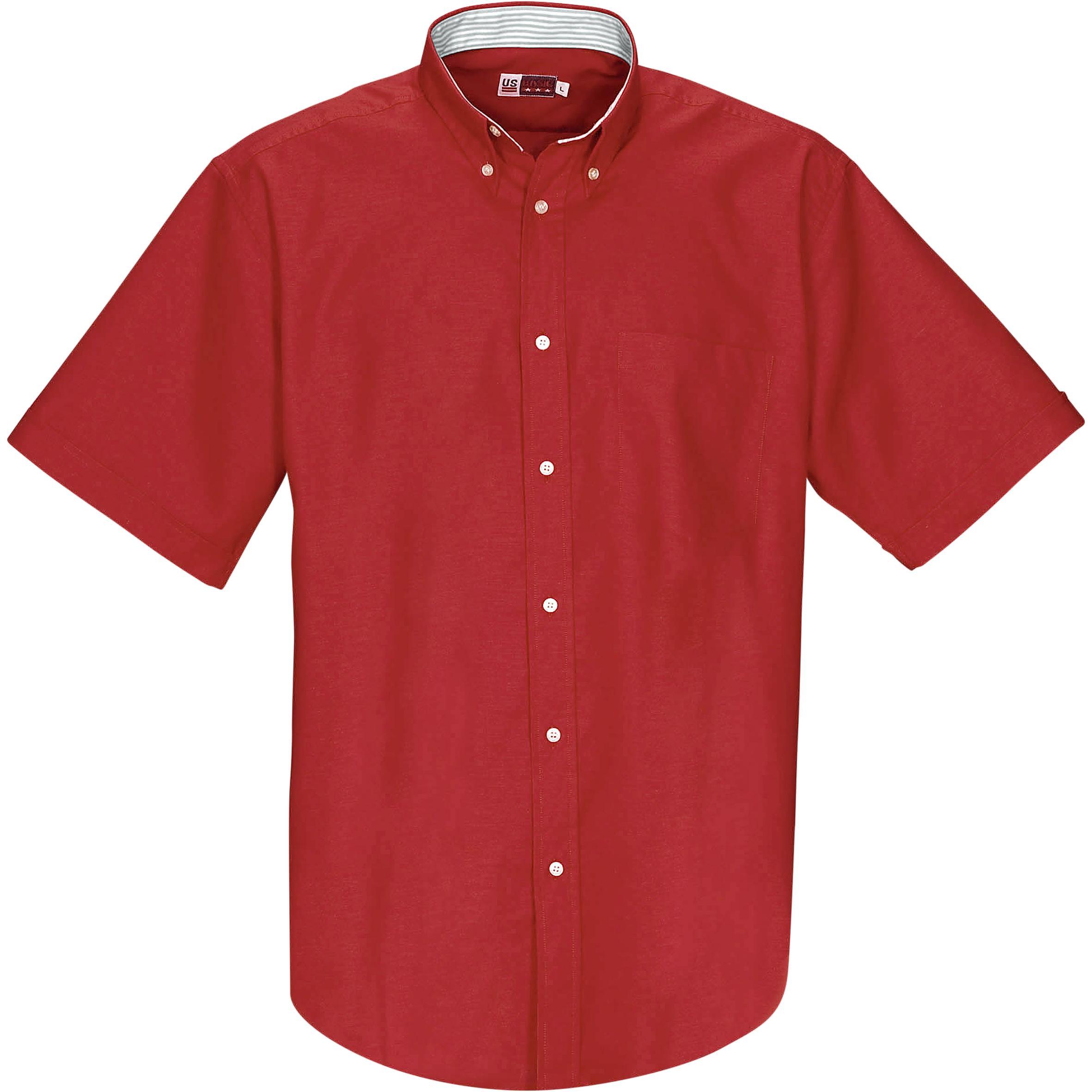 Mens Short Sleeve Aspen Shirt - Red Only