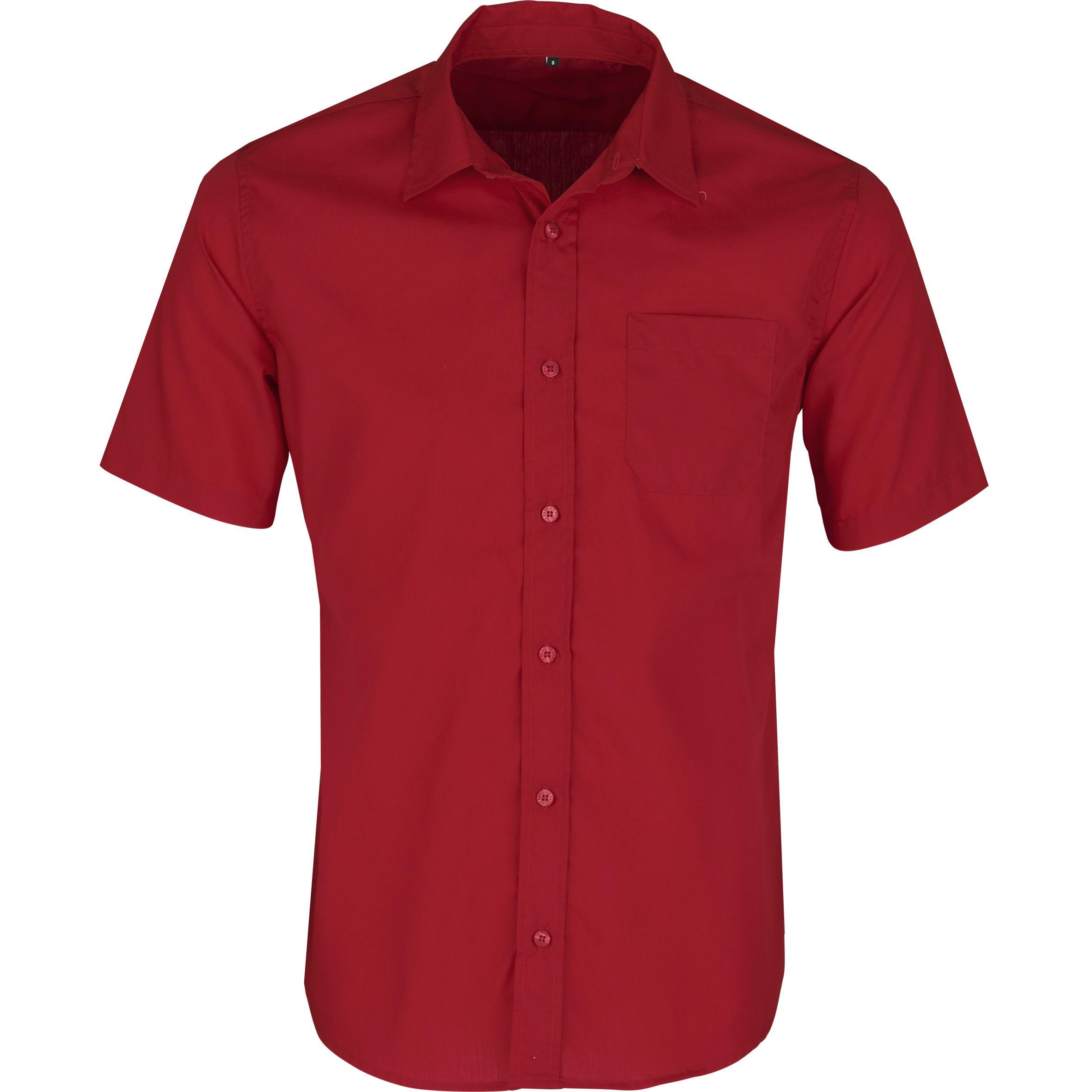 Mens Short Sleeve Kensington Shirt - Red Only